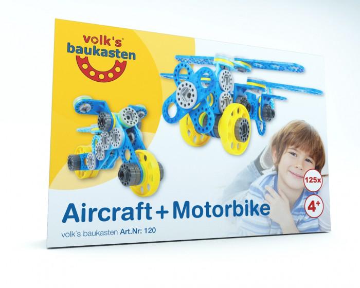das mittelgroße Set vom volk`s baukasten mit dem Aircraft und dem Motorbike